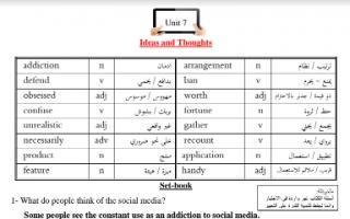 مذكرة انجليزي unit 7 للصف الثامن اعداد خالد سليم