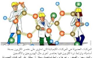 تقرير كيمياء عاشر درس تركيب مركبات الكربون العضوية