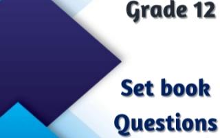 حل أسئلة set book انجليزي للصف الثاني عشر الفصل الثاني مدرسة الكويت الأهلية الحديثة