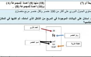 حل المنهج المساند علوم للصف الثامن