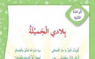 حل وحدة بلادي الجميلة لغة عربية للصف الثالث