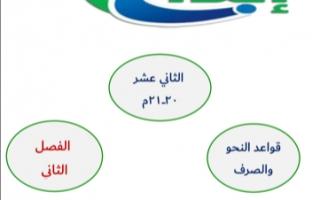 مذكرة قواعد النحو والصرف لغة عربية للصف الثاني عشر الفصل الثاني إعداد أ.محمد قاعود الشربيني