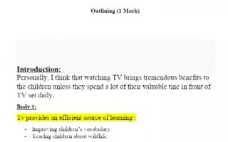 تقرير انجليزي للصف الحادي عشر watching TV