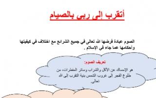 تقرير إسلامية للصف الثامن أتقرب إلى ربي بالصيام