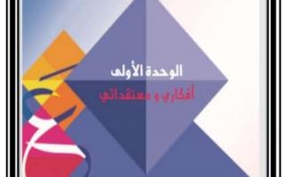 حل وحدة افكاري ومعتقداتي كتاب اللغة عربية للصف تاسع