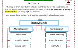 تعبير انجليزي للصف الثامن الفصل الاول اعداد المزيني