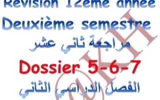 مراجعة شاملة فرنسي للصف الثاني عشر أدبي الفصل الثاني