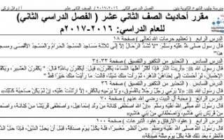 ملخص إسلامية للصف الثاني عشر الفصل الثاني أ.وائل تركي