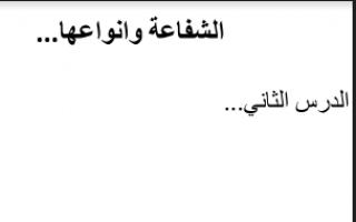 تقرير الاسلامية الشفاعة وانواعها للصف الثاني عشر للمعلم احمد البلوشي