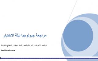مراجعة جيولوجيا للصف الحادي عشر علمي الفصل الثاني ثانوية سلمان الفارسي
