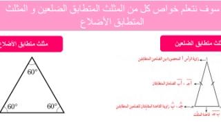 تقرير رياضيات للصف السابع استكشاف خواص المثلث