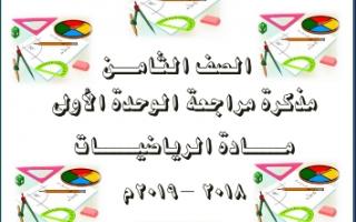 مراجعة رياضيات الوحدة الأولى غير محلولة للصف الثامن اعداد محمود عبد العزيز