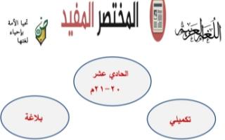 مذكرة بلاغة عربي للصف الحادي عشر الفصل الأول محمد قاعود الشربيني