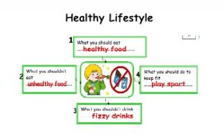 تقرير Healthy Lifestyle لغة إنجليزية للصف الرابع