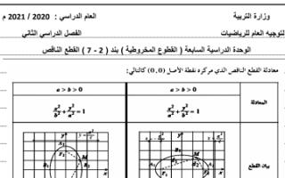 بنك أسئلة رياضيات البند 2-7 للصف الثاني عشر علمي الفصل الثاني